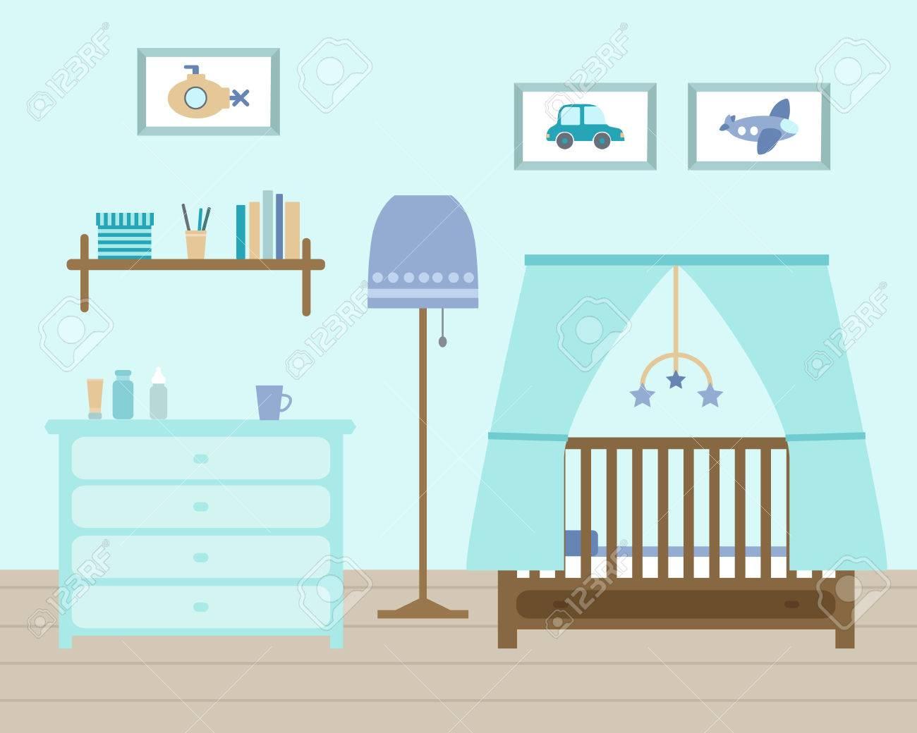 Amüsant Jungen Babyzimmer Beste Wahl Kinderzimmer Für Den Neugeborenen Jungen. Mit Möbeln.