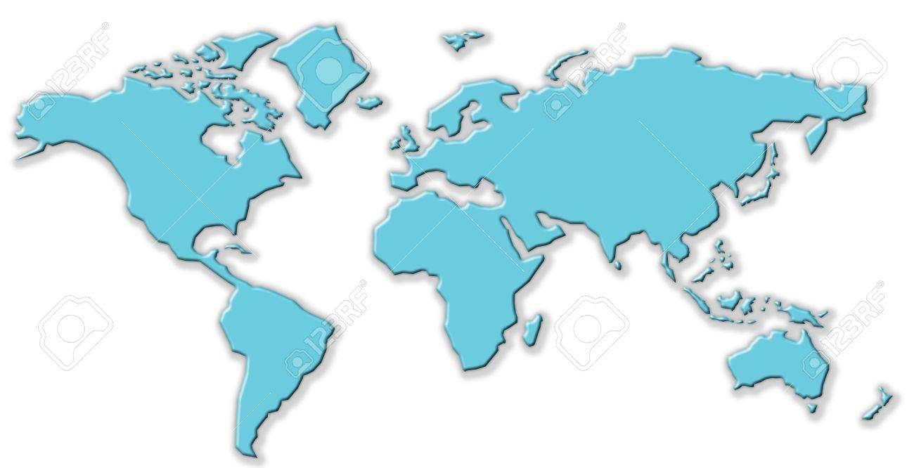 Simple World Map Simple World Map Stock Photo, Picture And Royalty Free Image