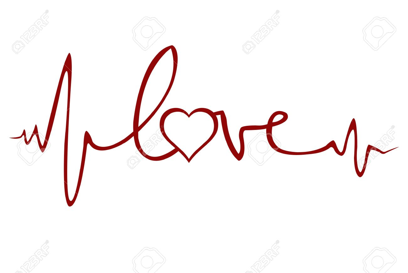 love ekg royalty free cliparts vectors and stock illustration rh 123rf com ekg vector change ekg vector change