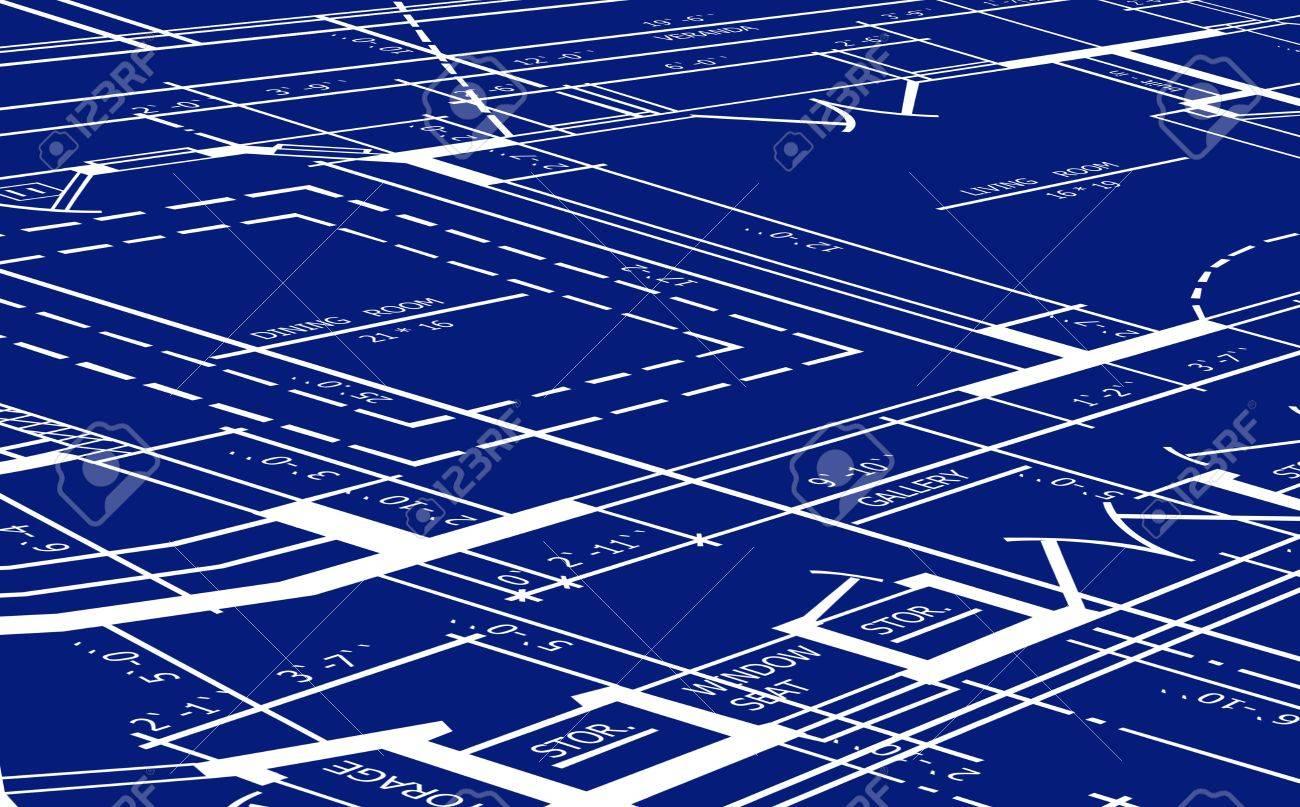 Vector blueprint of floor plan