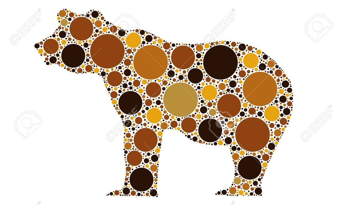 dotted bear silhouette Stock Vector - 10941807