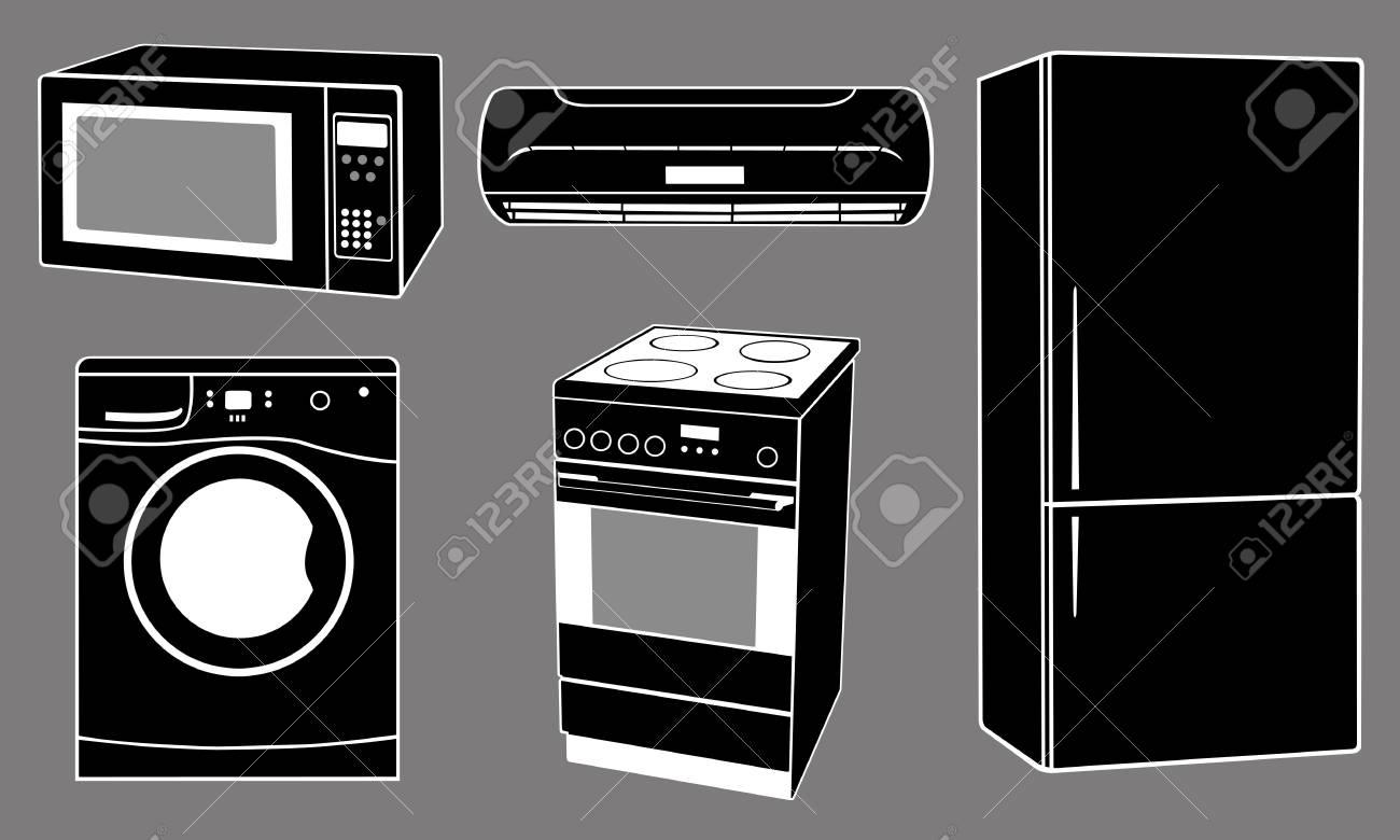 house apliances illustration Stock Vector - 11574092