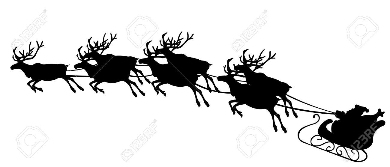 santa with reindeer Stock Vector - 11574077
