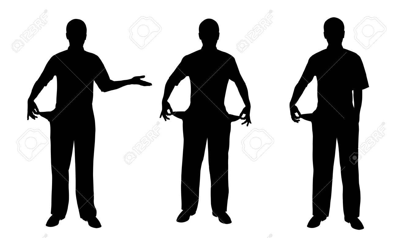 people silhouettes Stock Vector - 12375834