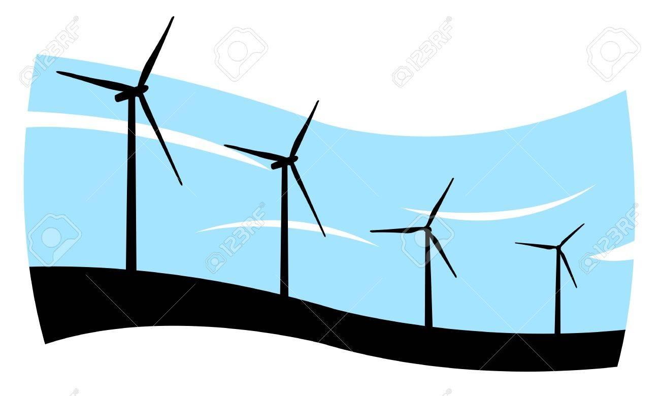 wind turbines concept Stock Vector - 14449794