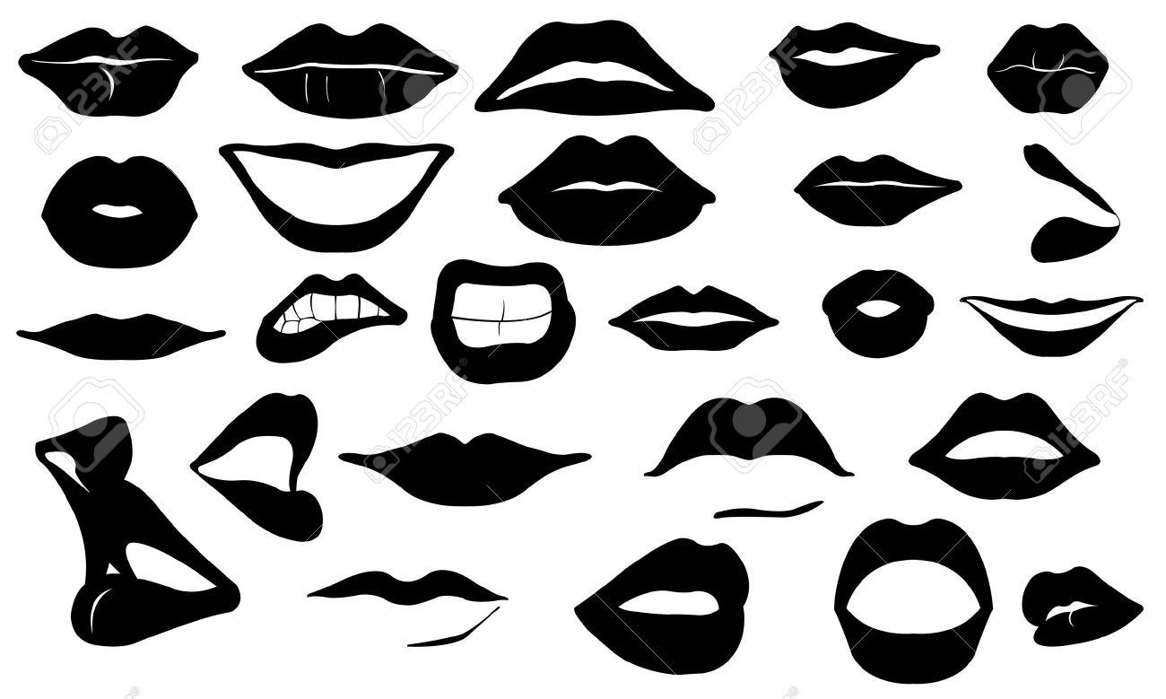 Lips Vector Black Lips Icon Png Vector Lips