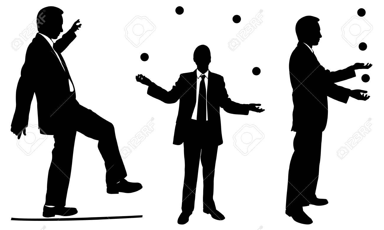 set of businessmen juggling royalty free cliparts vectors and rh 123rf com juggling free vector woman juggling vector