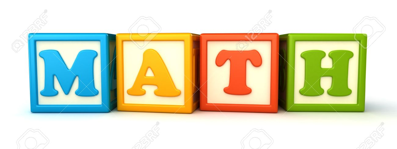 Alphabet building blocks that spelling the word math