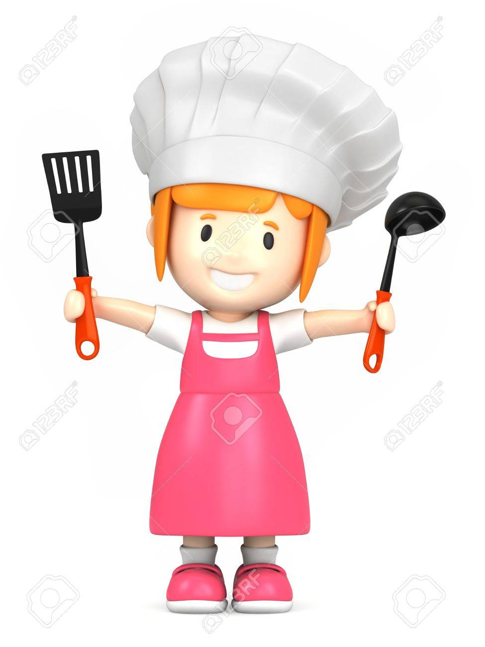 3d render of a little chef Stock Photo - 15474847