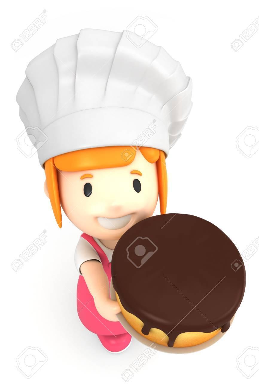 3d render of a little baker Stock Photo - 15474912