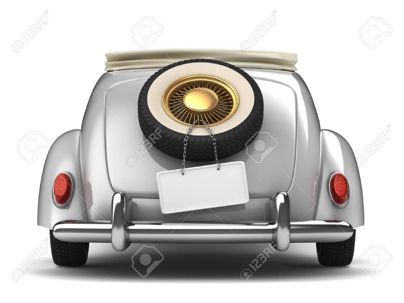 Vintage White Bridal Car Stock Photo, Picture And Royalty Free Image ...