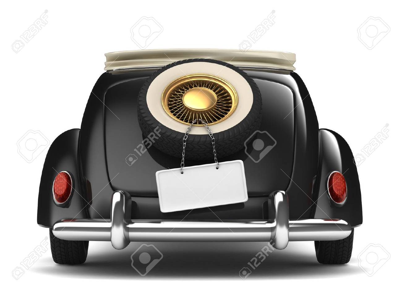 Vintage Black Bridal Car Stock Photo, Picture And Royalty Free Image ...