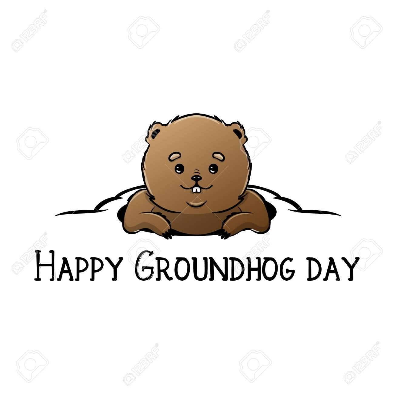 1684 Groundhog Stock Illustrations Cliparts And Royalty Free