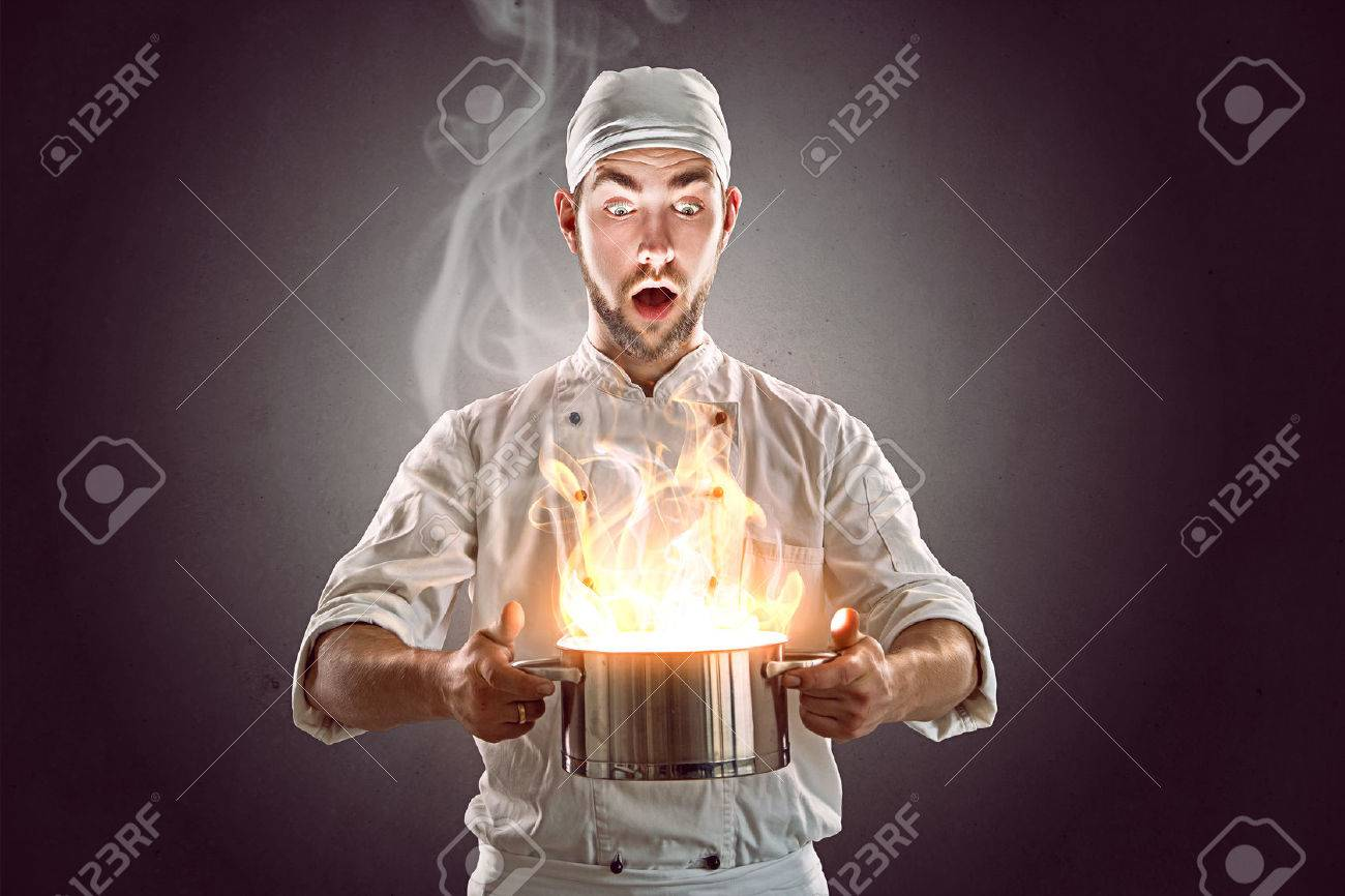 Crazy Chef Stock Photo