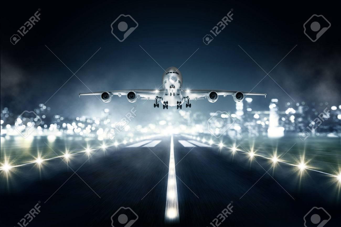 Landing Airplane - 75550736