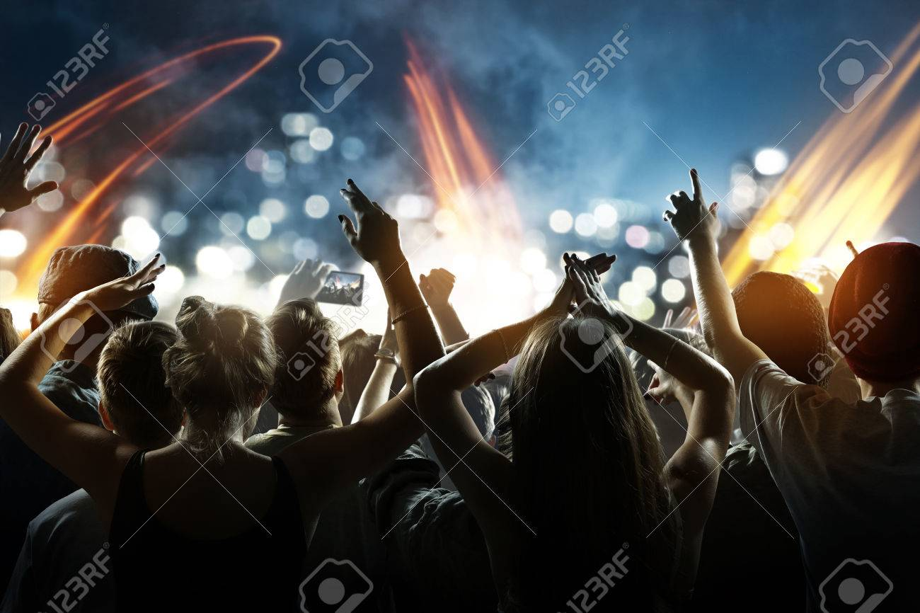 Crowd at a concert - 75551825