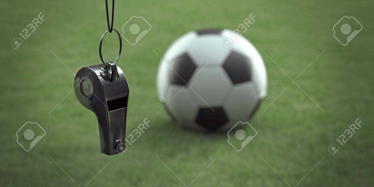 Whistle and football (Rendering) - 137249280