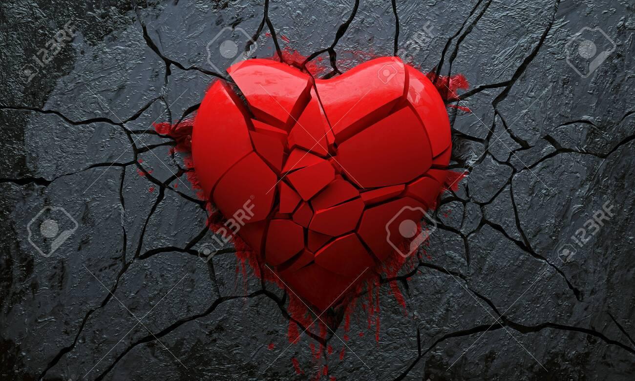 Broken Heart (3D Rendering) - 137076400