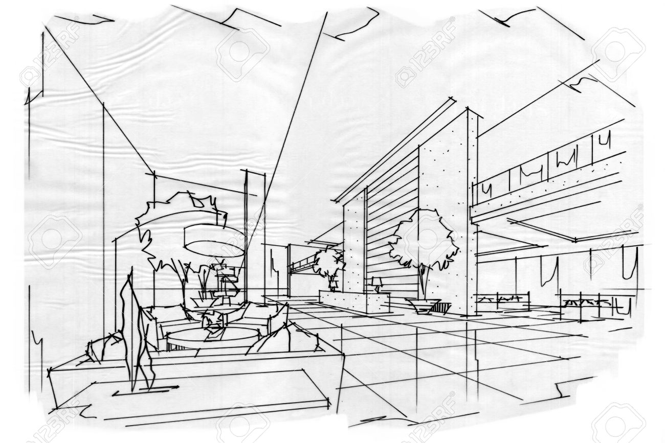 Sketch Interior Perspective Lobby, Black And White Interior Design on dark interior design, modern minimalist house design, ceiling lighting interior design, modern hotel bar and lounge interior design, black interior designers, nordic interior design, all black and white interior design,