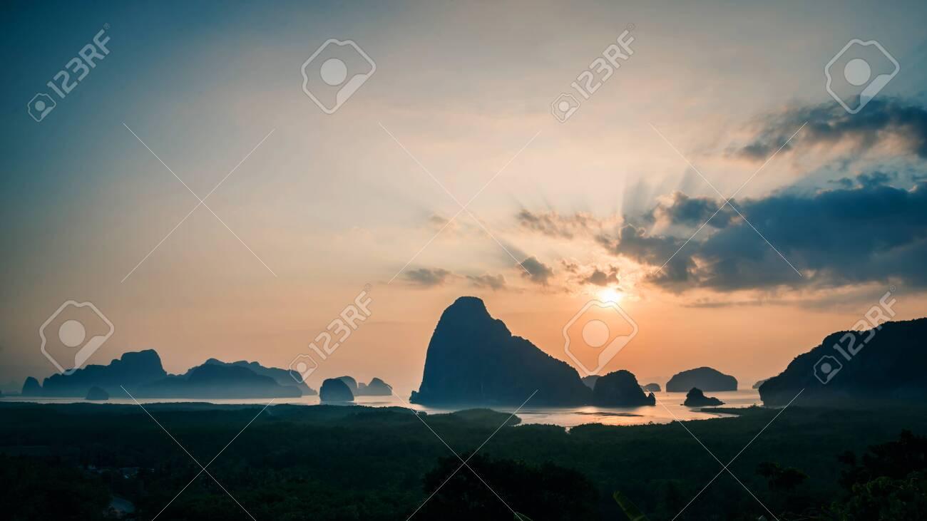 archipelago Andaman sea Morning atmosphere Sun rises. Asia Thailand - 121629455