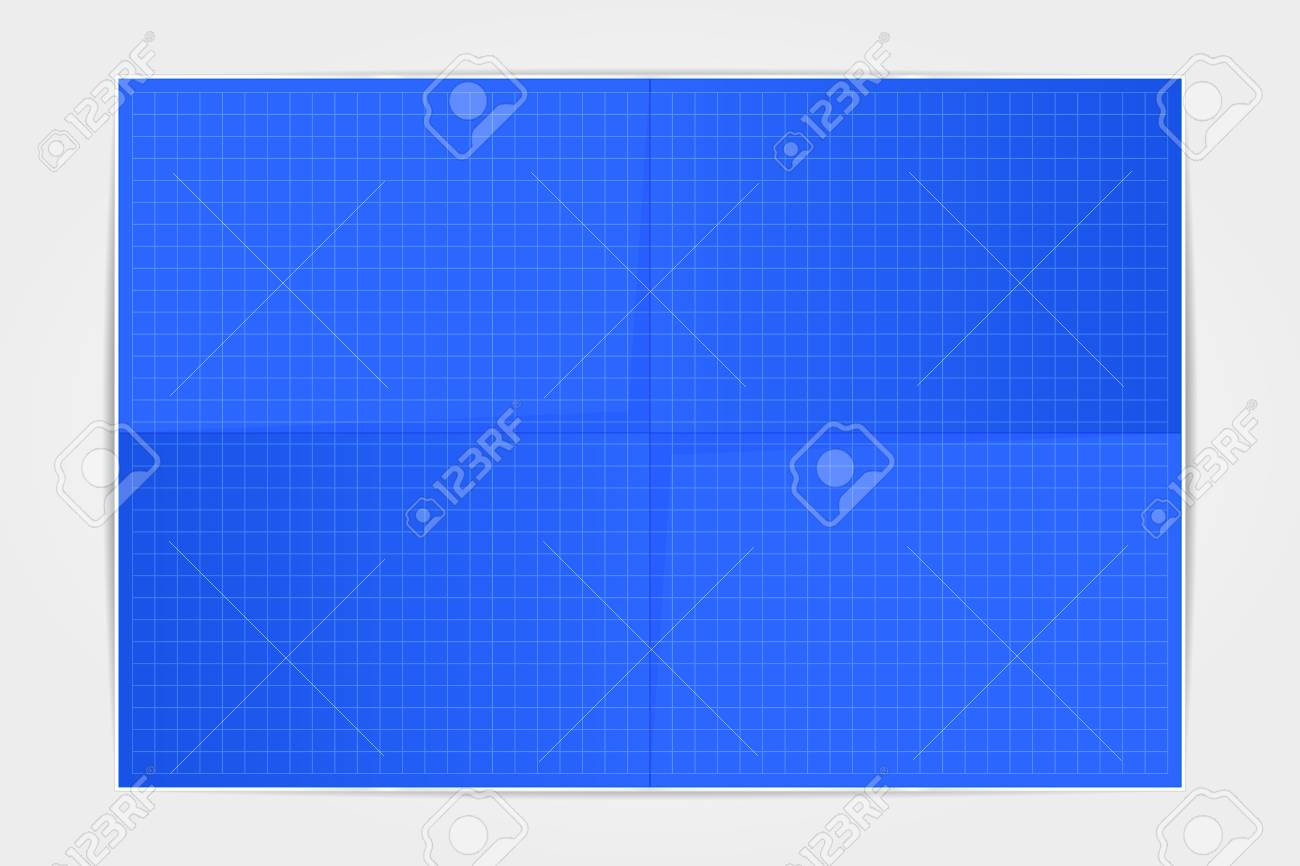 Template blueprint sheet of paper folded in four on a white template blueprint sheet of paper folded in four on a white background vector illustration malvernweather Choice Image