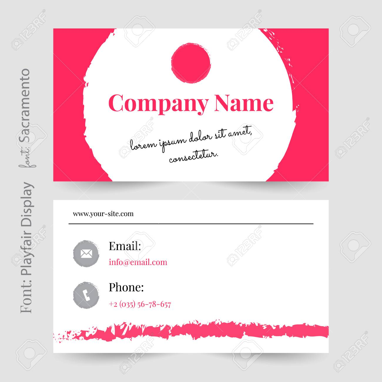 Business card or visiting card template vector pink visiting business card or visiting card template vector pink visiting card stock vector 92171518 colourmoves