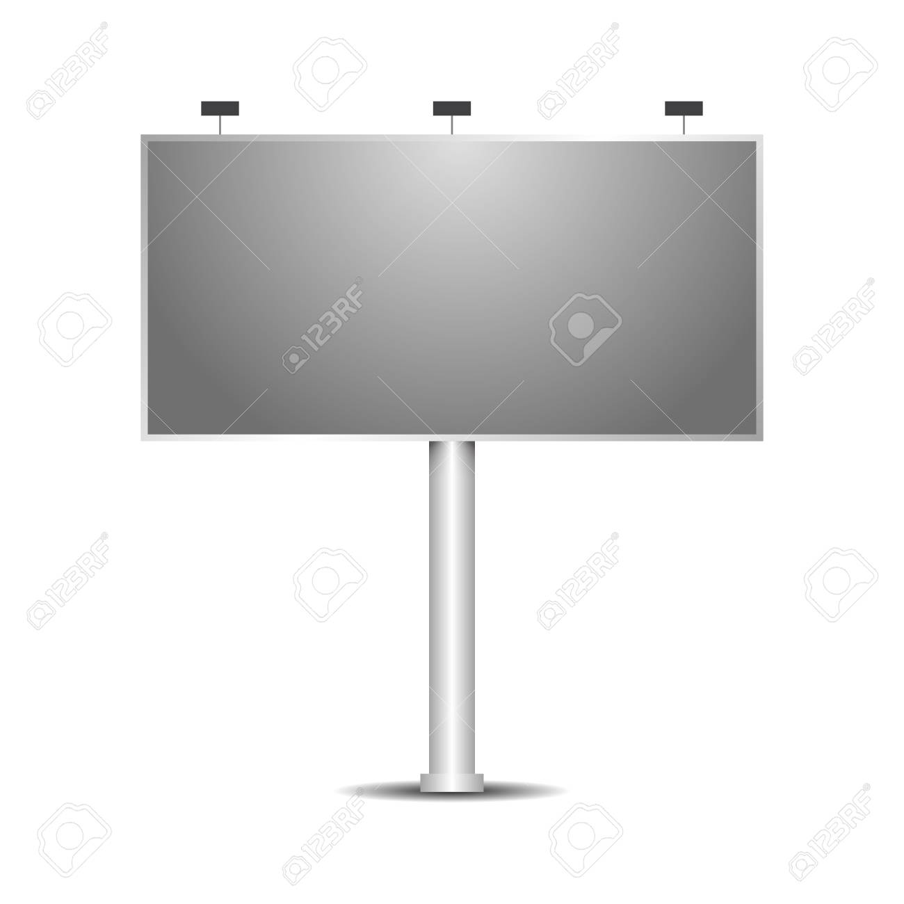 Billboard Template With Light Mockup Royalty Free Cliparts