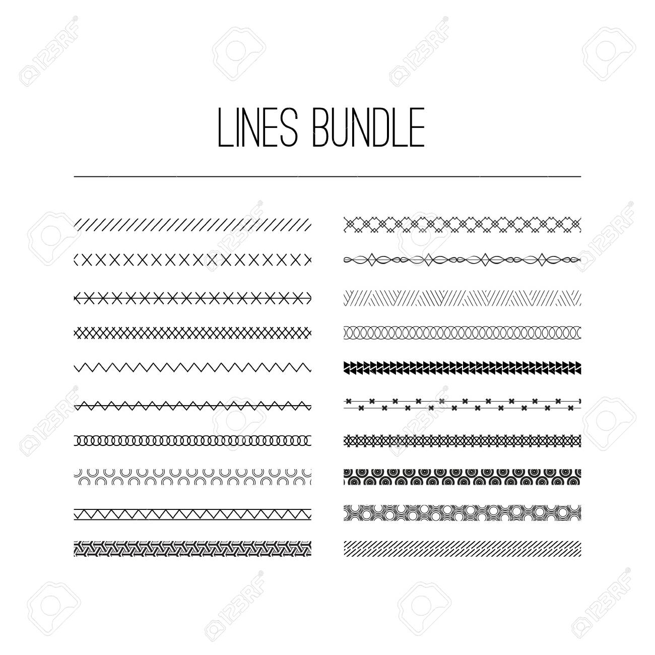 Calligraphic borders, patterns, and ornamental corners. Vector pattern brushes set. decorative elements for the design works. It can be used as separate elements or brushes - 124235852