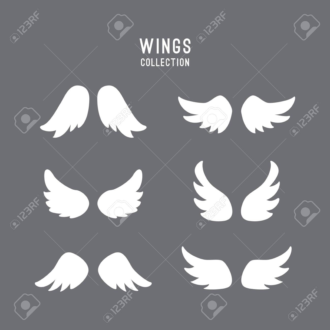 vector wings logo set winged logo company and icon wing flying royalty free cliparts vectors and stock illustration image 119690523 123rf com