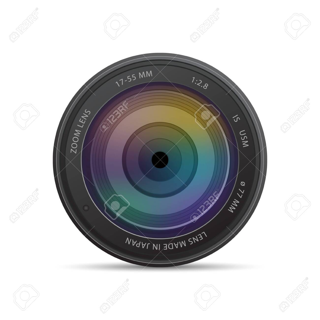 camera photo lens with shutter - 120460707