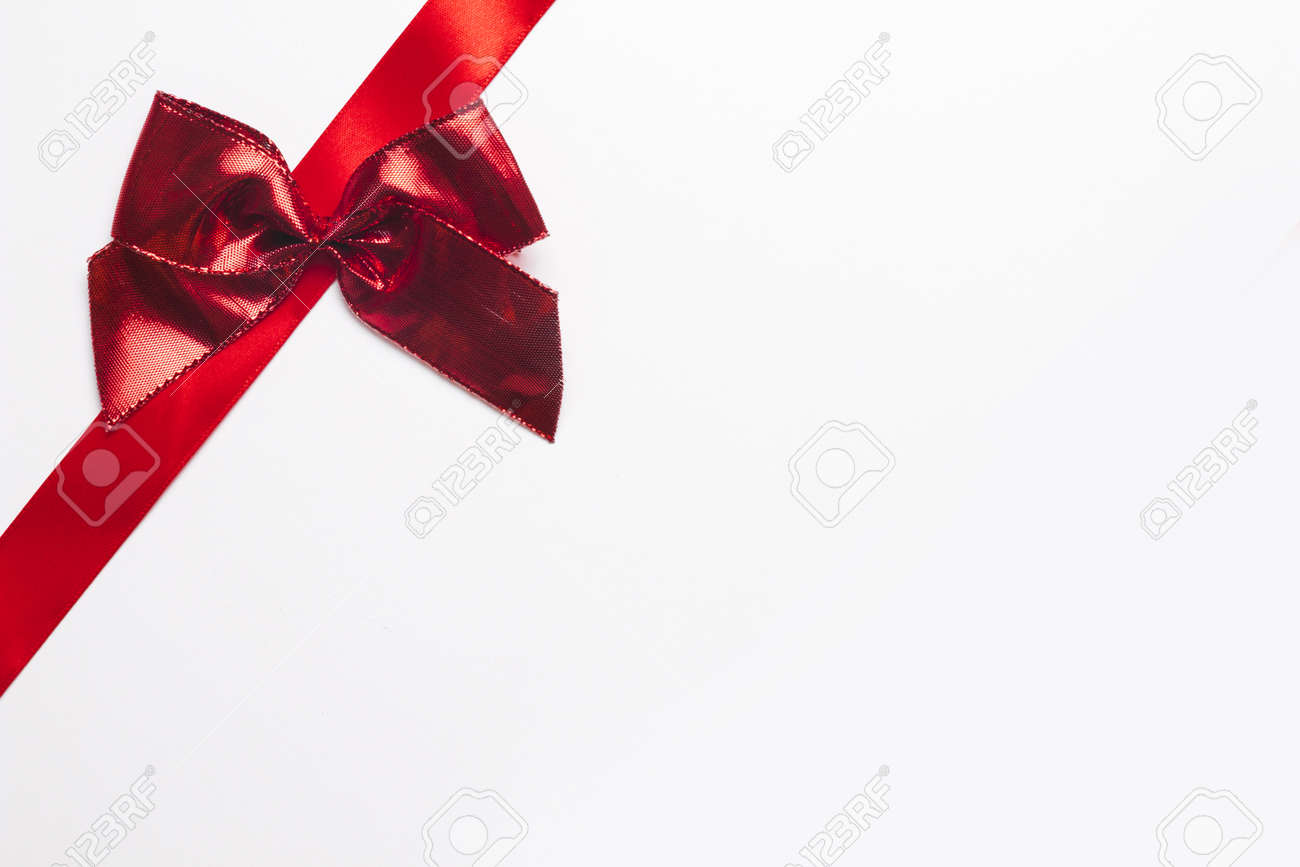silk ribbon with bright bow. Resolution and high quality beautiful photo - 166146504