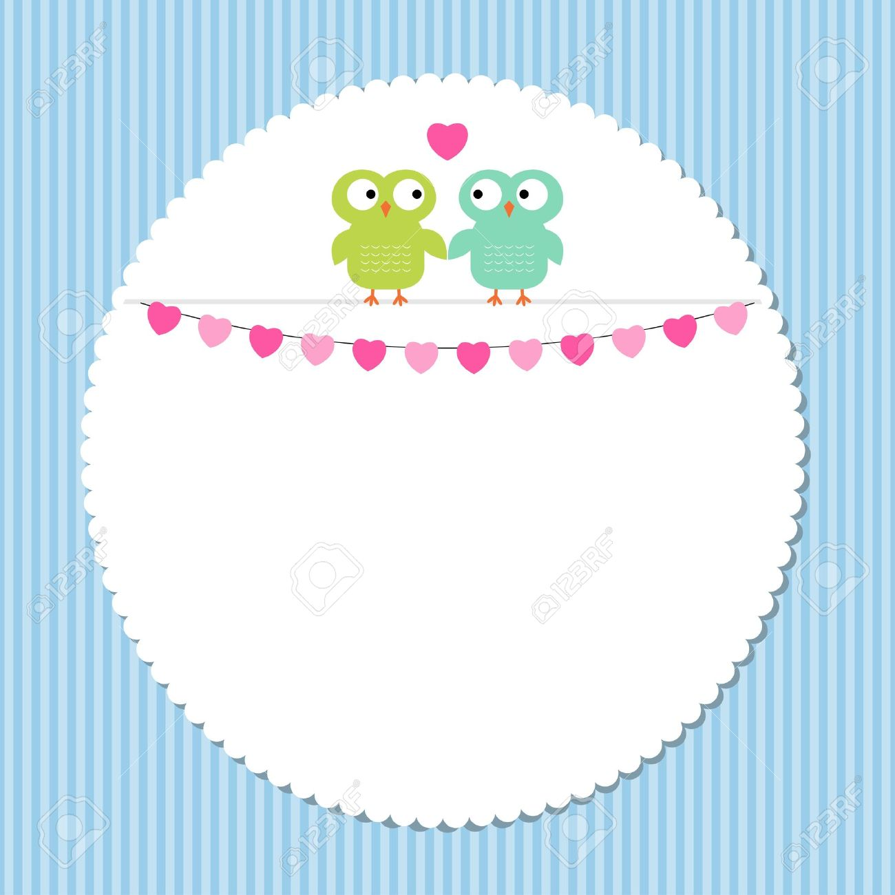owl love frame royalty free cliparts vectors and stock  - owl love frame stock vector
