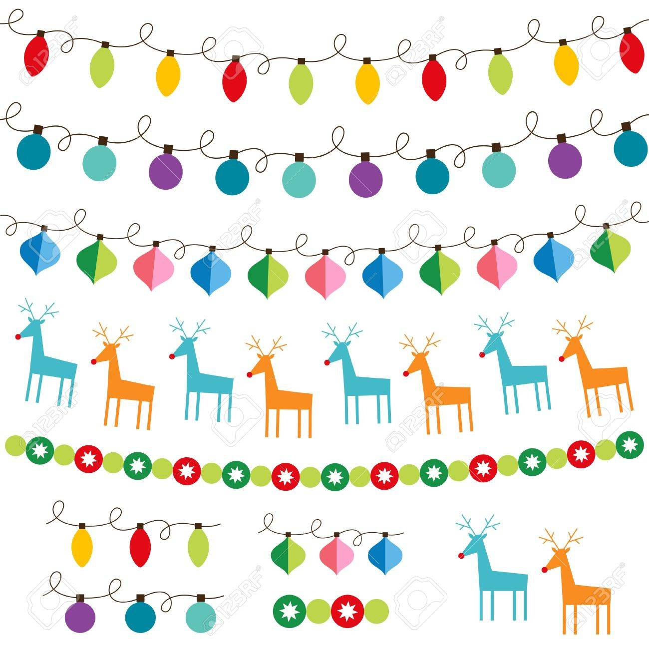 Christmas decoration set Stock Vector - 14973843