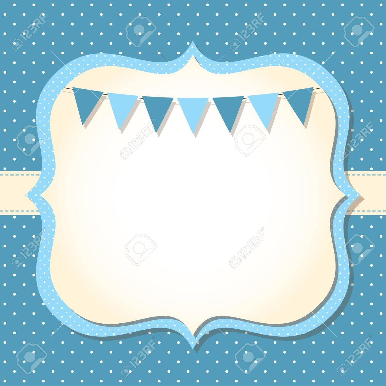 Baby boy arrival or shower card Stock Vector - 15659220