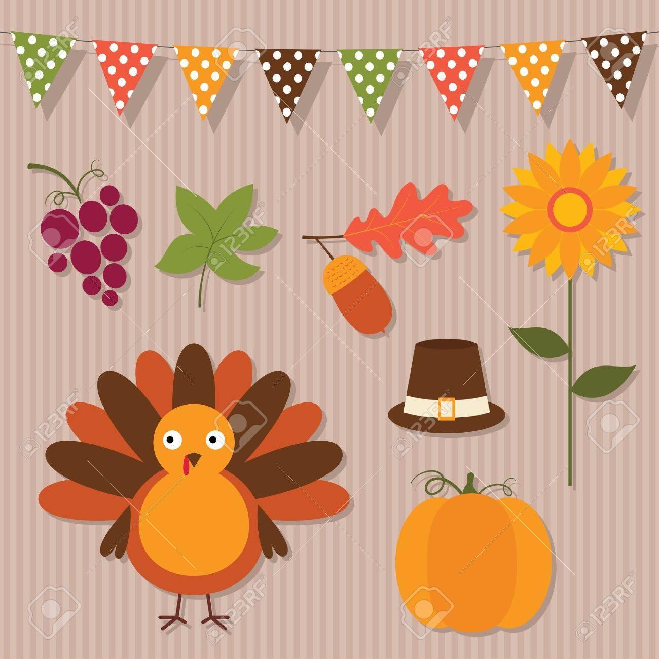 Thanksgiving vector set Stock Vector - 15893933