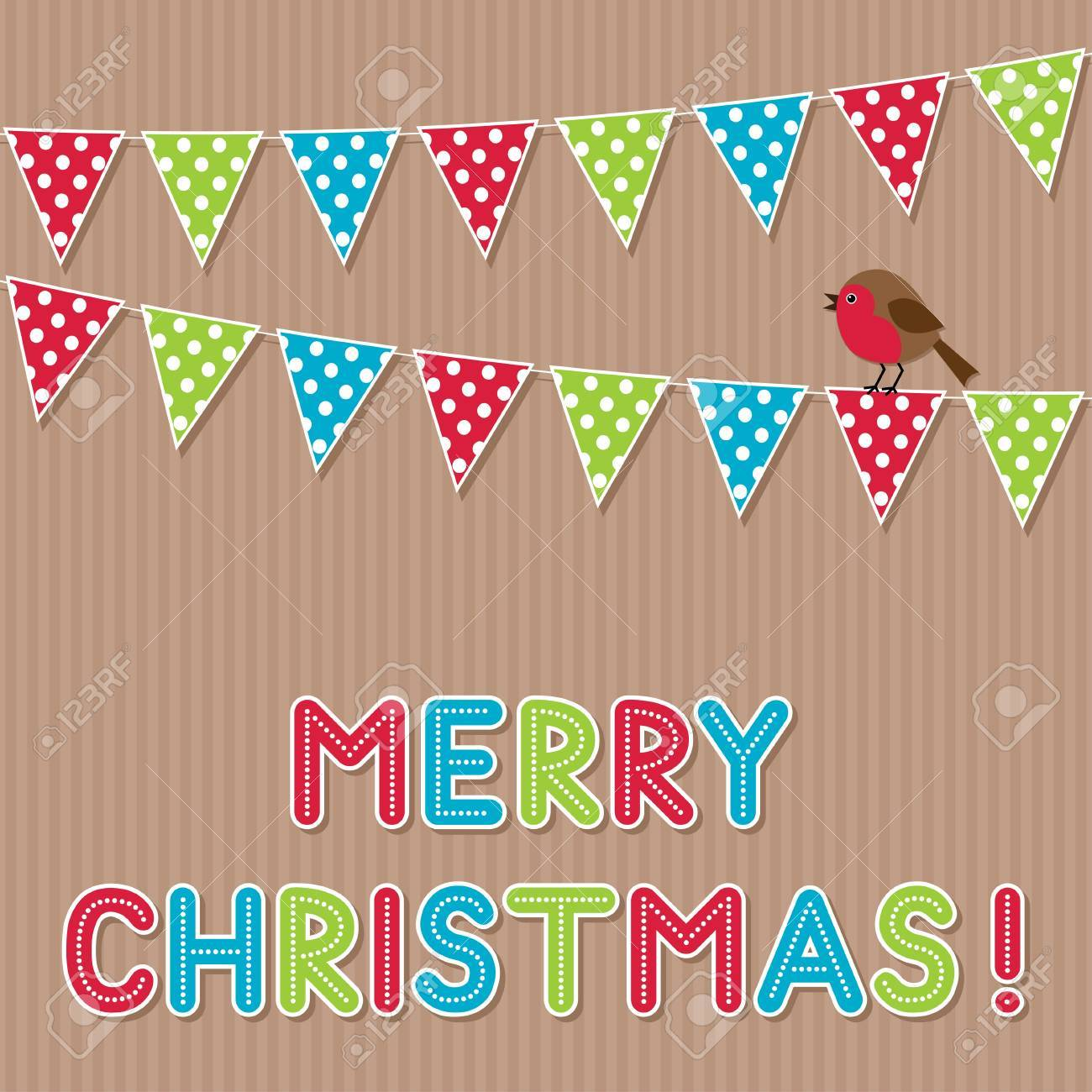 Merry Christmas card Stock Vector - 16016759