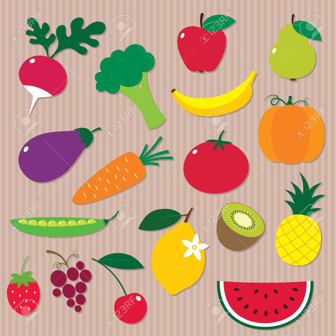 Fruit and vegetables Stock Vector - 16615914