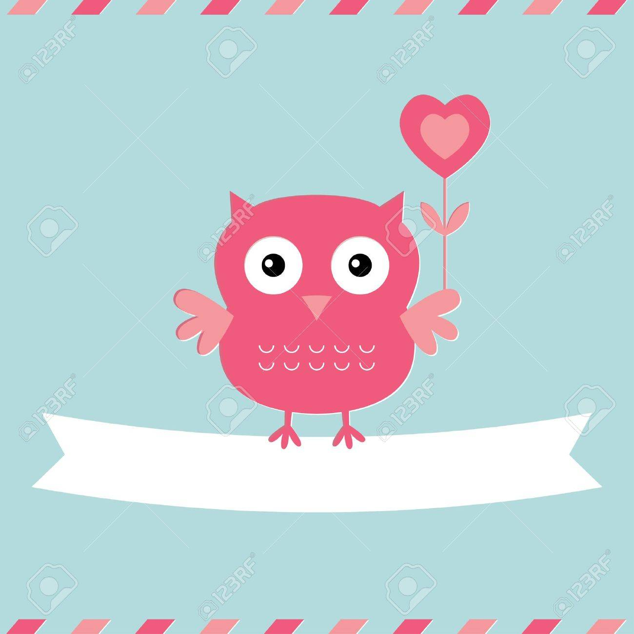 Cute Owl Valentine S Day Card Royalty Free Cliparts Vectors And