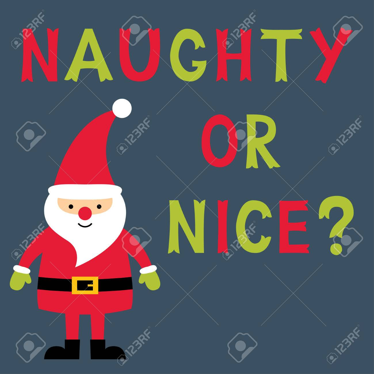 Naughty or nice text christmas greeting card text in hand lettered naughty or nice text christmas greeting card text in hand lettered font stock vector m4hsunfo