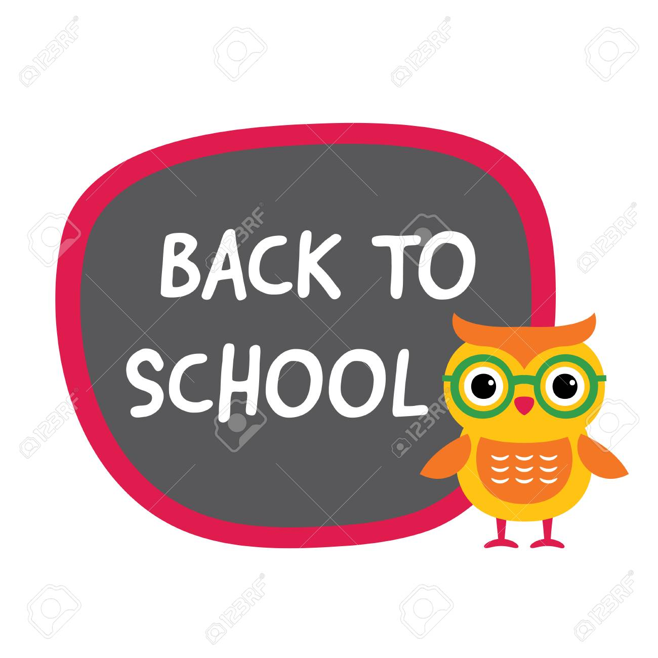 back to school banner with a cute owl royalty free cliparts, vectors