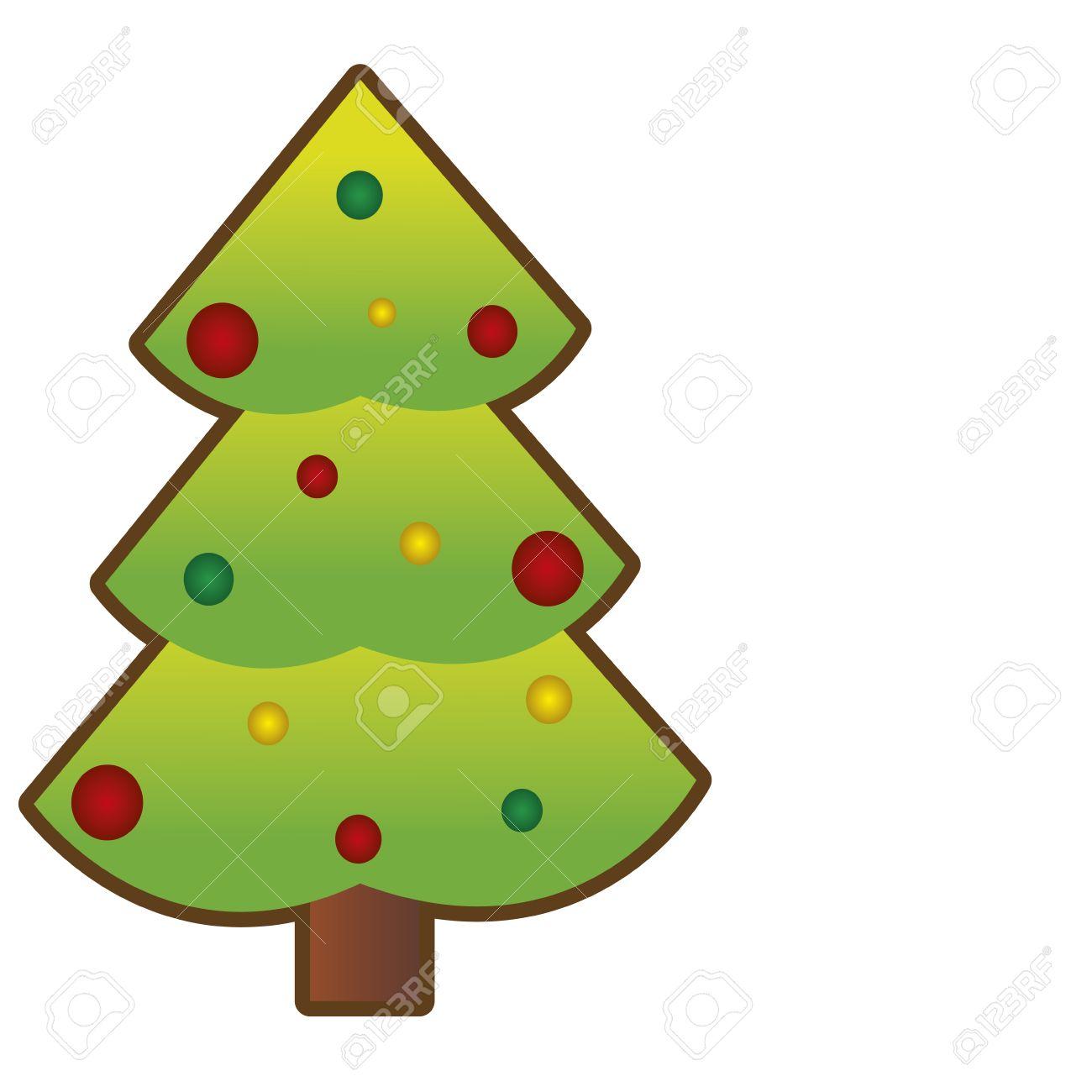 Fotos De Arboles De Navidad En Dibujos.Dibujos Animados Abstracto Arbol De Navidad En Un Fondo Blanco