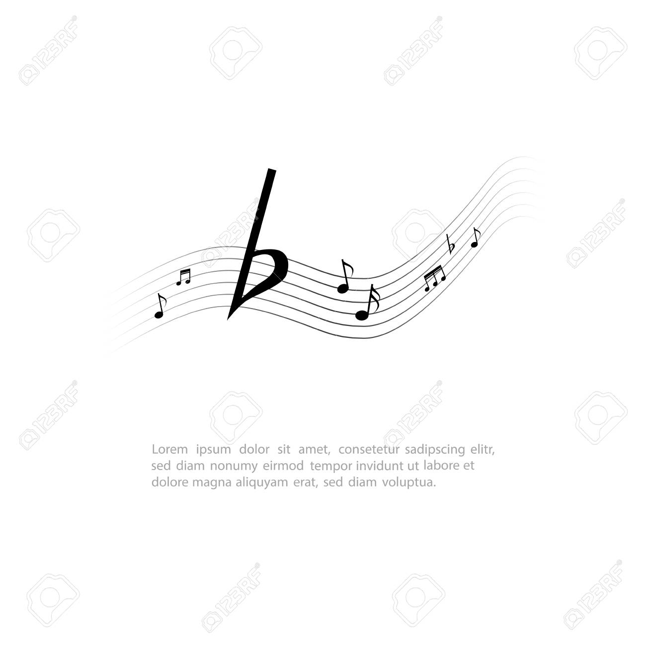 Vettoriale Isolata Nota Musicale Su Uno Sfondo Bianco