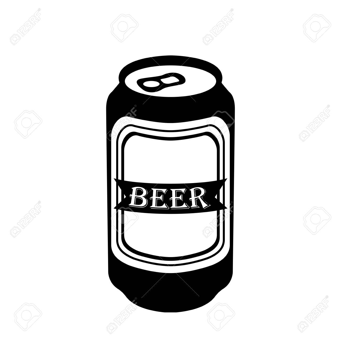 isolated silhouette of a beer can royalty free cliparts vectors rh 123rf com blank beer can vector beer can outline vector