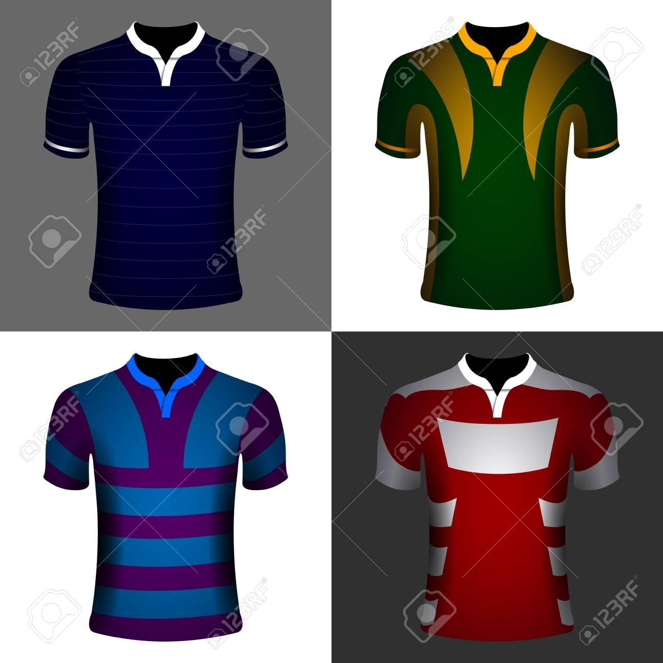 Conjunto De Camisetas Deportivas En Fondos De Colores 40ac4d34b03
