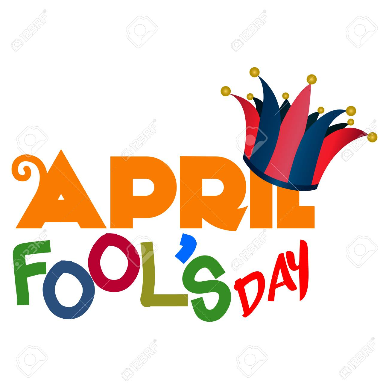 April Fools Day Graphic Design, Vector Illustration Royalty Free Cliparts,  Vectors, And Stock Illustration. Image 74367258.