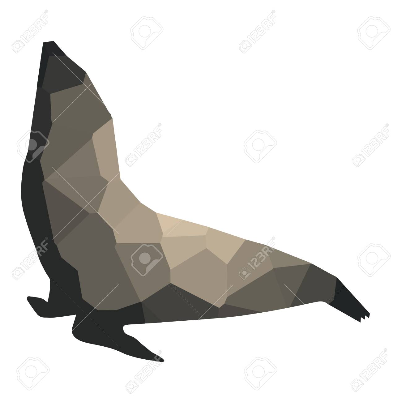 Isolated colored low poly seal vector illustration royalty free isolated colored low poly seal vector illustration stock vector 79487491 jeuxipadfo Gallery