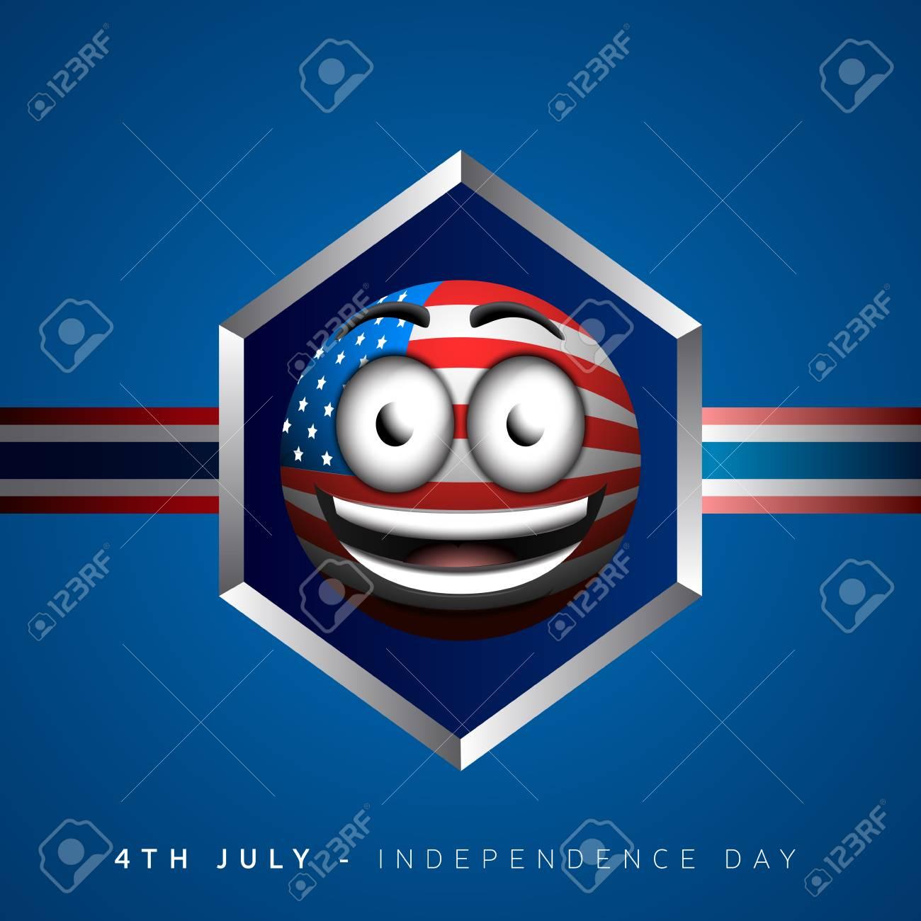 Día De La Independencia Feliz Diseño Gráfico, Ilustración Vectorial ...