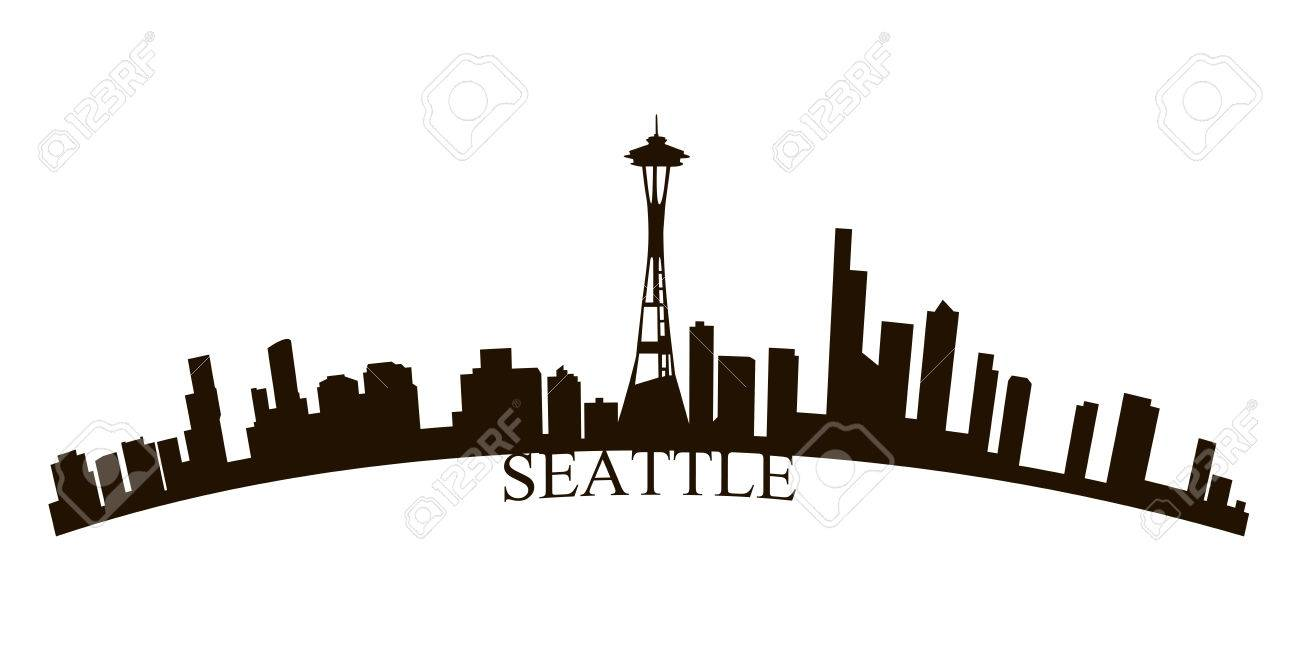 isolated seattle skyline on a white background vector illustration rh 123rf com seattle skyline vector free seattle city skyline vector free