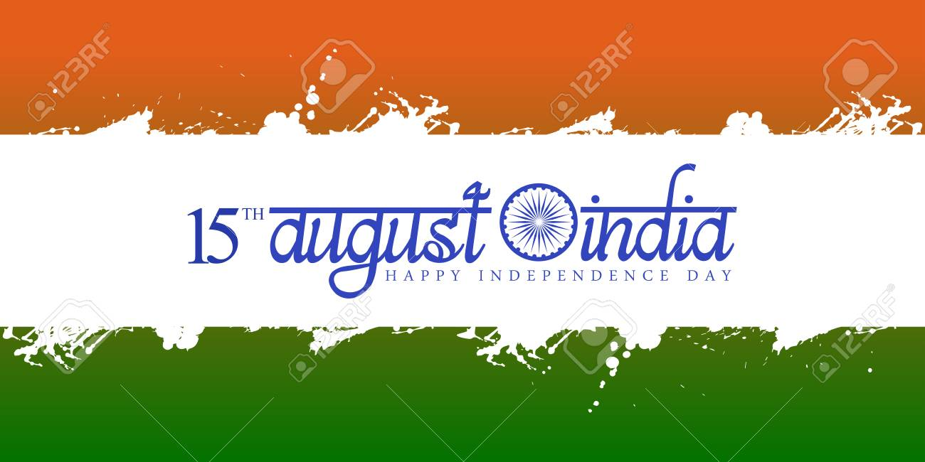 Happy Indian Independence Day Graphic Design Vector Illustration