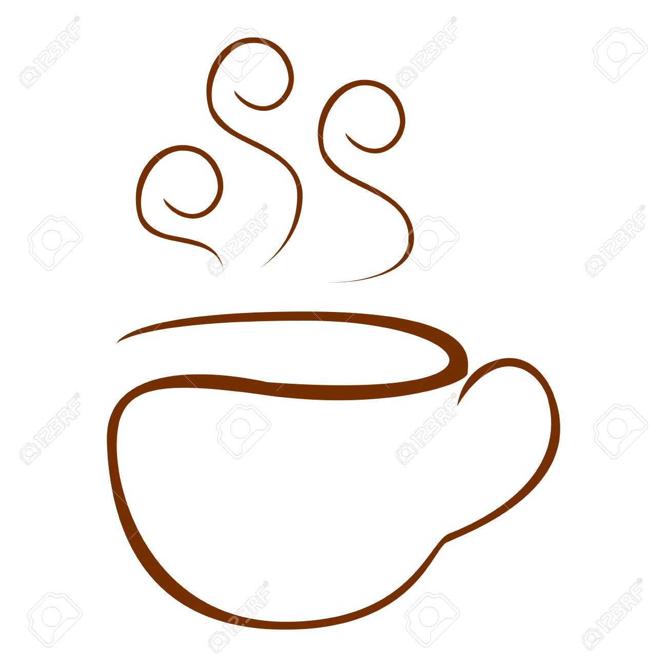 Isolated Abstract Coffee Mug Logo Vector Illustration Royalty Free Cliparts Vectors And Stock Illustration Image 87564528